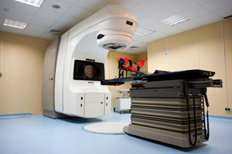 A linear accelerator firm Varian Clinac 2100C